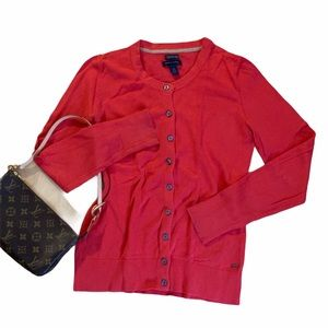 ✨ TOMMY HILFIGER ✨ CORAL RED CARDIGAN